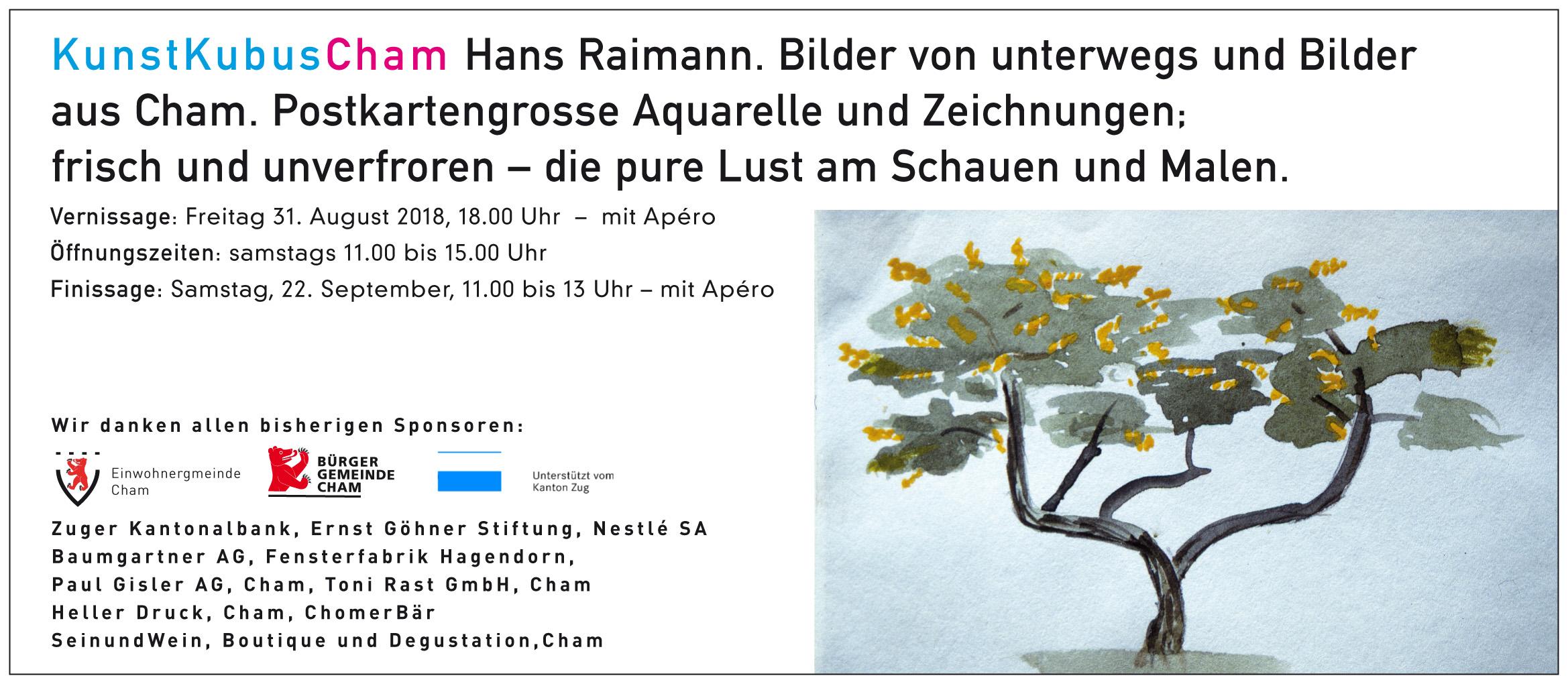 Hans Raimann - Aquarelle und Zeichnungen